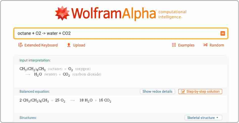 WolframAlpha Search Engine